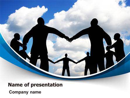 People Circle PowerPoint Template, 07457, Religious/Spiritual — PoweredTemplate.com