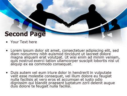 People Circle PowerPoint Template, Slide 2, 07457, Religious/Spiritual — PoweredTemplate.com