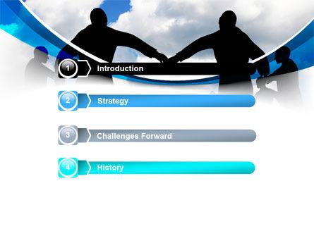 People Circle PowerPoint Template, Slide 3, 07457, Religious/Spiritual — PoweredTemplate.com