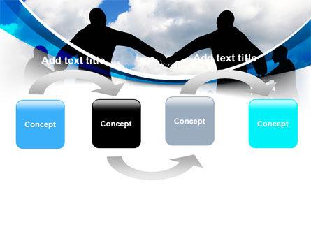 People Circle PowerPoint Template, Slide 4, 07457, Religious/Spiritual — PoweredTemplate.com