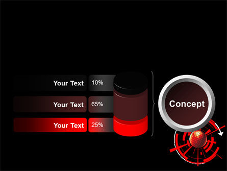 Red Sphere On A Black Background PowerPoint Template Slide 11