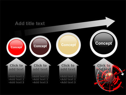 Red Sphere On A Black Background PowerPoint Template Slide 13