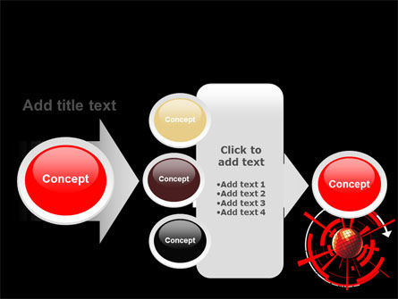 Red Sphere On A Black Background PowerPoint Template Slide 17