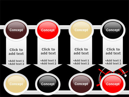 Red Sphere On A Black Background PowerPoint Template Slide 18