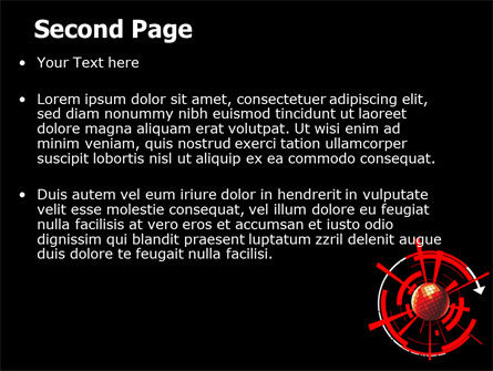 Red Sphere On A Black Background PowerPoint Template, Slide 2, 07458, Business — PoweredTemplate.com