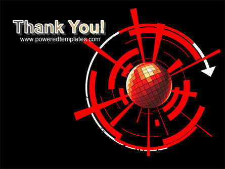 Red Sphere On A Black Background PowerPoint Template Slide 20