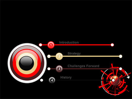 Red Sphere On A Black Background PowerPoint Template Slide 3