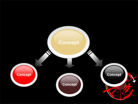 Red Sphere On A Black Background PowerPoint Template, Slide 4, 07458, Business — PoweredTemplate.com