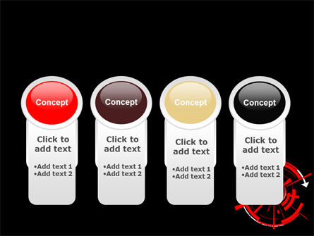Red Sphere On A Black Background PowerPoint Template Slide 5