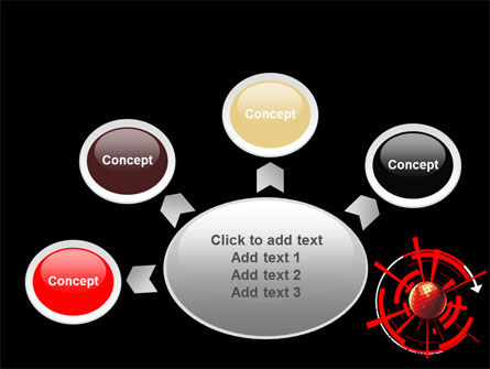 Red Sphere On A Black Background PowerPoint Template Slide 7