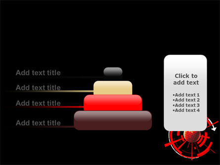 Red Sphere On A Black Background PowerPoint Template Slide 8