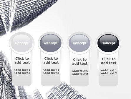 Business Center In Graphic Mode PowerPoint Template Slide 5