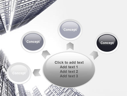 Business Center In Graphic Mode PowerPoint Template Slide 7