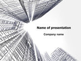 Construction: Business Center In Graphic Mode PowerPoint Template #07460