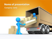 Careers/Industry: Loading Transport PowerPoint Template #07461