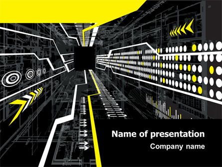 Flows PowerPoint Template, 07462, Technology and Science — PoweredTemplate.com