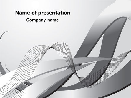 Abstract/Textures: Gray Stripes PowerPoint Template #07463