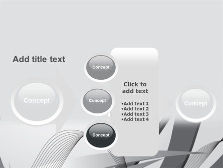 Gray Stripes PowerPoint Template Slide 17