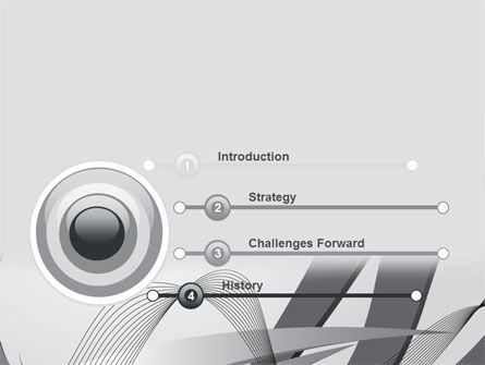 Gray Stripes PowerPoint Template Slide 3
