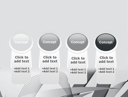 Gray Stripes PowerPoint Template Slide 5