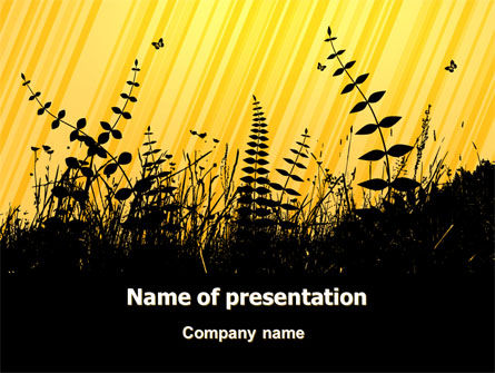 Nature & Environment: Grass Free PowerPoint Template #07466