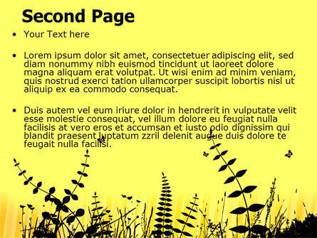 Grass Free PowerPoint Template, Slide 2, 07466, Nature & Environment — PoweredTemplate.com