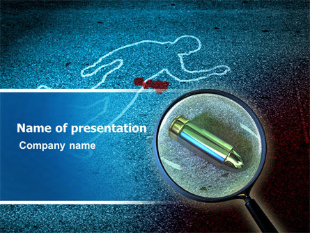 Legal: Crime Scene Investigation PowerPoint Template #07467