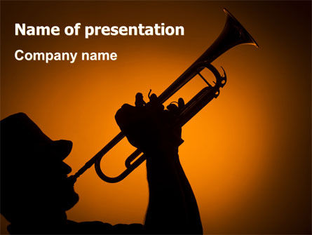 Trumpeter PowerPoint Template, 07469, Art & Entertainment — PoweredTemplate.com