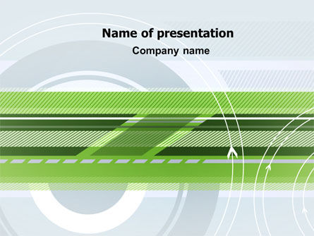 Turning Wheel PowerPoint Template, 07474, Business — PoweredTemplate.com