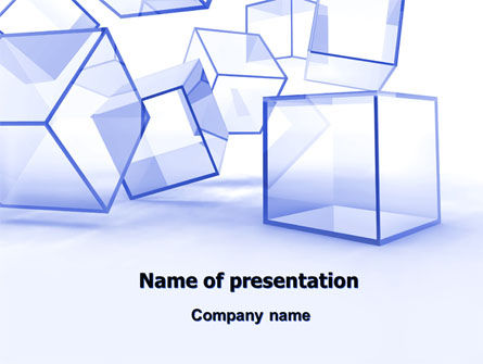 Glass Cube PowerPoint Template