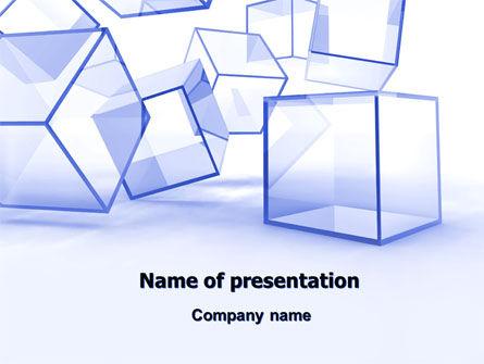 Glass Cube PowerPoint Template, 07475, Business — PoweredTemplate.com