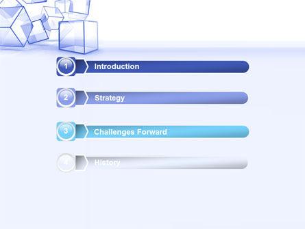 Glass Cube PowerPoint Template, Slide 3, 07475, Business — PoweredTemplate.com
