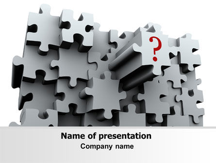 3 Dimensional Puzzle PowerPoint Template