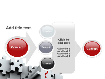 3 Dimensional Puzzle PowerPoint Template Slide 17