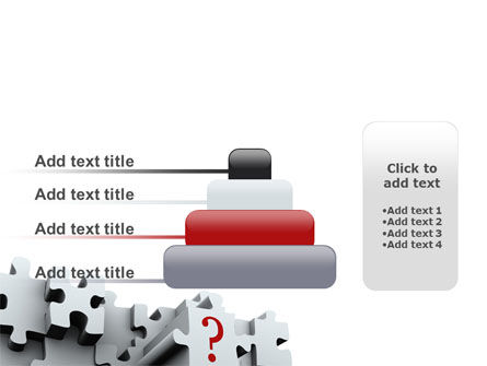 3 Dimensional Puzzle PowerPoint Template Slide 8
