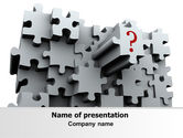 Consulting: 3 Dimensional Puzzle PowerPoint Template #07476