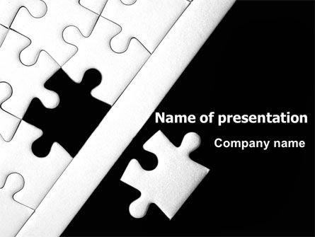 Contrast Puzzle PowerPoint Template, 07477, Consulting — PoweredTemplate.com