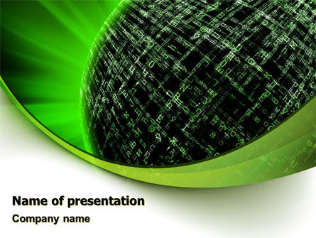 Technology and Science: Matrix Sphere PowerPoint Template #07478