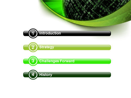 Matrix Sphere PowerPoint Template, Slide 3, 07478, Technology and Science — PoweredTemplate.com