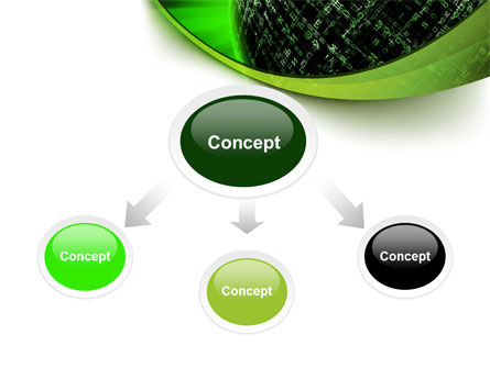 Matrix Sphere PowerPoint Template, Slide 4, 07478, Technology and Science — PoweredTemplate.com