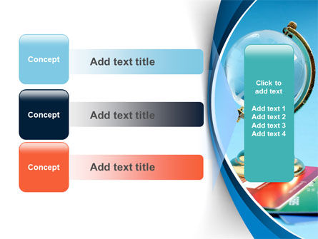 Crystal Globe At The Plastic Cards PowerPoint Template Slide 12