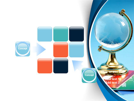 Crystal Globe At The Plastic Cards PowerPoint Template Slide 16