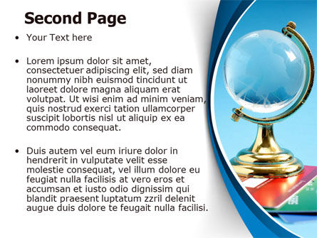 Crystal Globe At The Plastic Cards PowerPoint Template Slide 2