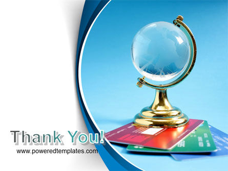 Crystal Globe At The Plastic Cards PowerPoint Template Slide 20