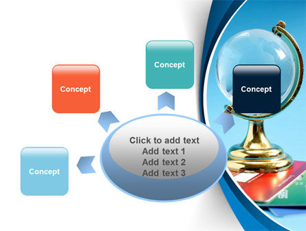 Crystal Globe At The Plastic Cards PowerPoint Template Slide 7