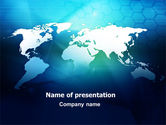 Global: Cells Of World PowerPoint Template #07480