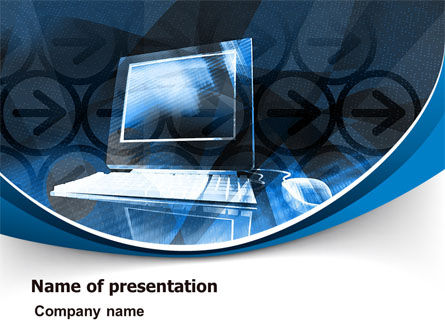 Desktop Computer PowerPoint Template, 07482, Technology and Science — PoweredTemplate.com