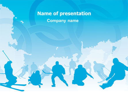 Sports: Winter Olympiad PowerPoint Template #07483