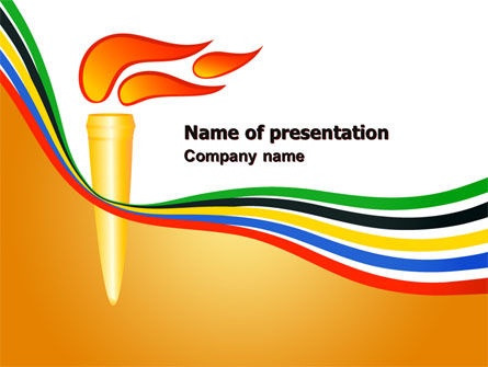 Sports: Olympic Cresset PowerPoint Template #07484