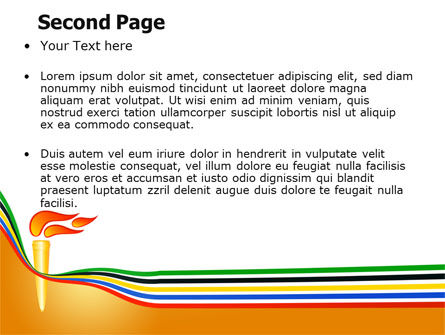 Olympic Cresset PowerPoint Template, Slide 2, 07484, Sports — PoweredTemplate.com